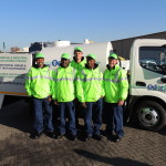 OdorCure's grease trap maintenance team and equipment