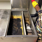 Grease Trap before clean