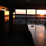 Late afternoon through the office window